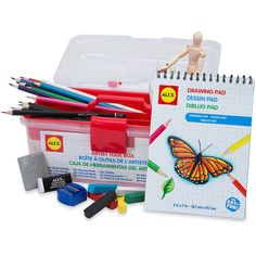 """Features:  -Conforms to ASTM D 4236. Dimensions:  -Sketch pad: 57"""".  Overall Height - Top to Bottom: -5.5"""".  Overall Width - Side to Side: -10"""".  Overall Depth - Front to Back: -6.5"""".  Overall Product"""