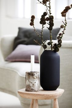 Simple End Table Decor. Side Table in Living Room | House Doctor autumn/winter collection.