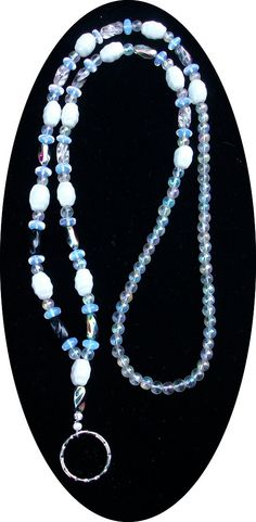 White ID badge lanyard necklace by SunMoonJewels on Etsy, $19.95