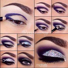Glittered Eyes By Vegas_nay in Motives Eyeliner(Amethyst) and Glitter Pots(Diamond)!   #Eyes #Diamond #Shop