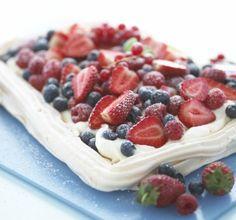 Nougat helado   Pavlova con frutas y helados   Omelette Norvegienne   Bananas foster