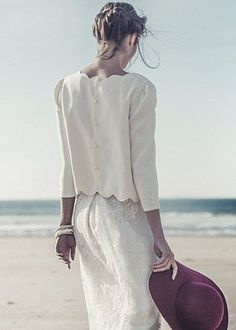 Spring 2015 #wedding trends, this jacket is so cute for a beach wedding.