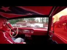 Straight Axle Gasser Ford Fairlane Drag Car Ride Along: Gasser Drag Race...