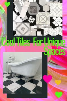 Finding the right tile can change your space from pretty, to pretty phenomenal! Check out this black and white combo from one of our favorite vendors. Let us help you create your look! Exterior Paint, Interior And Exterior, Lenoir City, Floor Design, Design Consultant, Remodels, Window Coverings, How To Know, Soy Candles