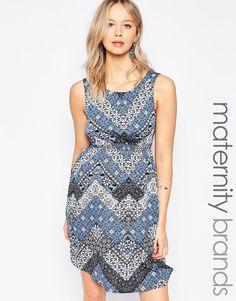 New Look Maternity Tile Print Dress