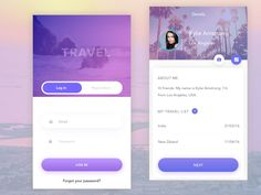 Travel app by Eugene Ledenyov