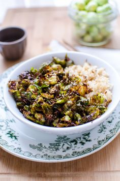 Roasted Brussels Sprouts & Coconut Bowl