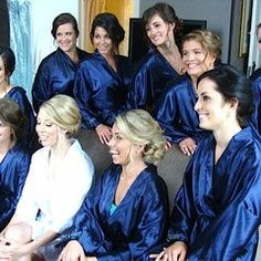 Monogrammed kimono bathrobes for bridal party by TimelessWeddingsShop on Etsy