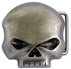 Harley-Davidson® Mens Willie G Skull Belt Buckle. M10080-LAN