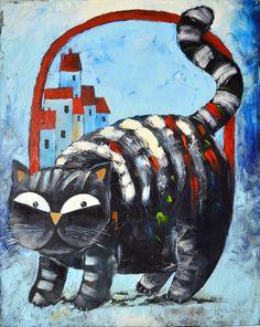 Catawiki online auction house: Miroslaw Hajnos - Big Cat
