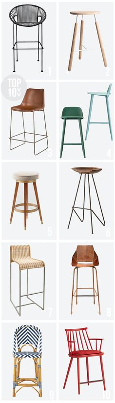 top ten : Bar and Counter stools