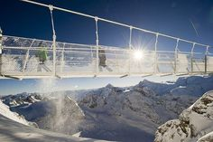 Europe's highest suspension bridge has opened to the public at Engelberg, Switzerland – a popular ski destination. The long Titlis. Mount Titlis, Places Around The World, Around The Worlds, Places To Travel, Places To Visit, Suspension Bridge, Urban Landscape, Travel Goals, What Is Like