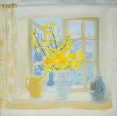 Your Paintings - Winifred Nicholson paintings Paintings I Love, Your Paintings, Landscape Paintings, Art Floral, Winifred Nicholson, Easter Monday, Still Life Flowers, Still Life Art, Art Uk