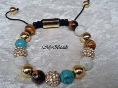 """Shamballa Armbänder stammen aus Tibet und gelten dort als Glücksbringer.  Elegantes, ausgefallenes und hochwertig geknüpftes """"Shamballa"""" - Armband von"""