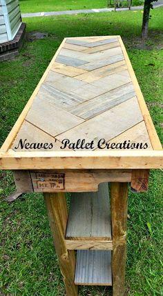 Pallets Wooden Foyer / Sofa Table – Pallets Ideas, Designs, DIY. (shared via SlingPic)