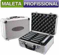 Maleta Para Gaita Harmônica Hering Case Metal Profissional - R$ 179,90