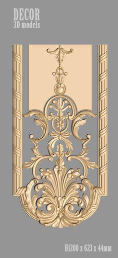 Decor models for cnc Baroque Decor, Main Door Design, Victorian Design, Ornaments Design, Wow Art, Design Seeds, 3d Models, Classic Interior, Wooden Art