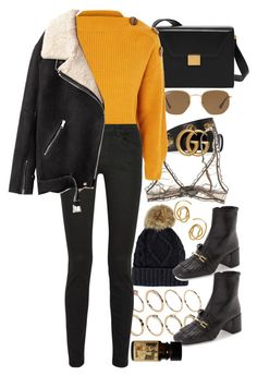 """Untitled #11101"" by nikka-phillips ❤ liked on Polyvore featuring Gucci, Ray-Ban, ASOS, Topshop, Proenza Schouler, E L L E R Y and Acne Studios"