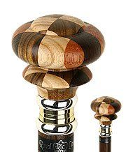 Mad Hatter Multi Wood Knob Handle Walking Stick With Wenge Wood Shaft and Two…