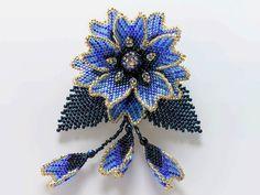 w1364 (700x525, 321Kb) Beaded Jewelry, Flower Jewelry, Brick Stitch, Beads And Wire, Beaded Flowers, Bead Weaving, Seed Beads, Beading, Beadwork