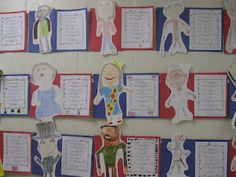 Third Grade Thinkers: A Character Trait BioPoem for Famous Americans @ Christy Gotcher... This would be great I think and would get some writing in as well!