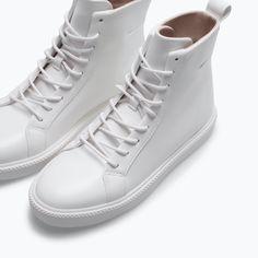 DAWNIE I REALLY FREAKIN WANT THESE!!!!!!!!!!!!!!ZARA - TRF - HIGH-TOP SNEAKERS