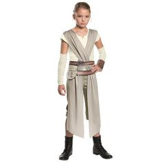 Child Classic Star Wars The Force Awakens Rey Fancy Dress Girls  Cosplay Halloween Costume