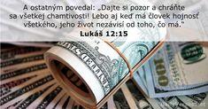 Lukáš 12:15 - DailyVerses.net