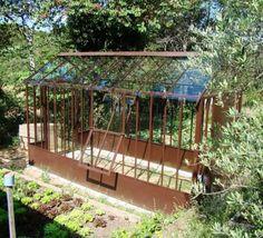 serre en m tal effet rouille h 252 cm tuileries maisons du monde conservatory pinterest. Black Bedroom Furniture Sets. Home Design Ideas