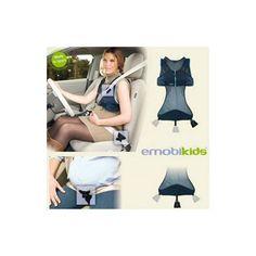 Chaleco Emobikids. El complemento perfecto para ir en el coche cuando estás embarazada. Se puede utilizar en cualquier asiento y desde el comienzo del embarazo.