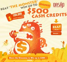 OASAP Giveaway day - Get free $100,000 cash credits.