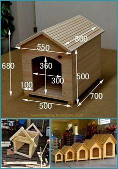 Wood Dog House, Pallet Dog House, Dog House Plans, Pet Furniture, Diy Pallet Furniture, Diy Pallet Projects, Wood Projects, Woodworking Projects Plans, Woodworking Videos