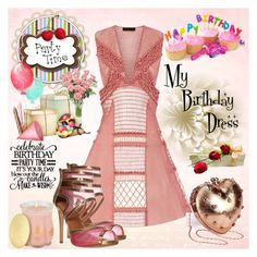 """""""My Birthday Dress"""" by fantasiegirl ❤ liked on Polyvore featuring Burberry and Creed"""