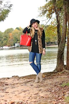 Leopard Faux Fur Vest - Cort In Session