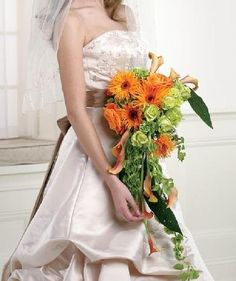 Orange Bouquets Wedding Flowers Photos on WeddingWire