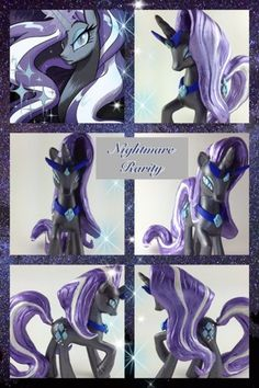 MLP Comic Custom Nightmare Rarity Figure- I have never heard of this, and that is a shame.