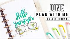 PLAN WITH ME | JUNE Bullet Journal Monthly Setup