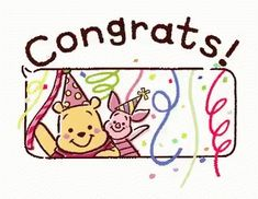 Winni The Pooh Congrats GIF - WinniThePooh Congrats - Discover & Share GIFs