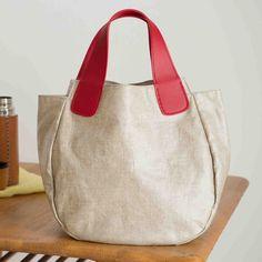 Big Bags, Cute Bags, Sewing Circles, Linen Bag, Denim Bag, Zipper Bags, Handmade Bags, Bucket Bag, Diy And Crafts