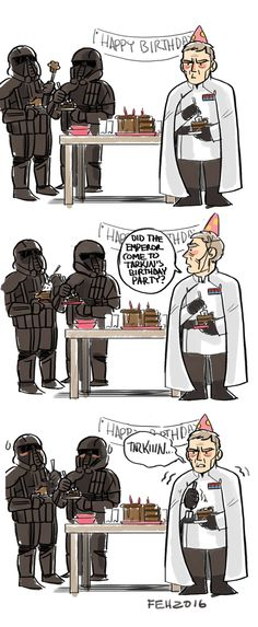 You just KNOW the Emperor came to Tarkin's birthday party. No one appreciates Director Krennic.