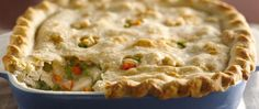 Enjoy this classic pot pie that's made using chicken, peas and carrots topped with puff pastry – a tasty dinner recipe. Use our classic pie crust recipe to make this the best homemade chicken pot pie! Classic Pie Crust.