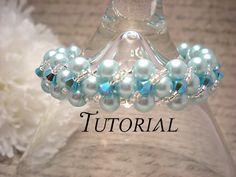 Tutorial PDF Right Angle Weave Swarovski Pearl Bracelet with Twisting Seed Bead and Crystal Overlay, Instant Download NiteDreamerDesigns