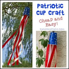 Fourth of July, 4th of July, Patriotic Crafts for Kids from www.daniellesplace.com