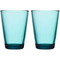 Iittala Glassware, Set of 2 Large Kartio Tumblers ($28) ❤ liked on Polyvore featuring home, kitchen & dining, drinkware, fillers, interior design, sea blue, twin pack, glass drinkware, iittala and glass glassware