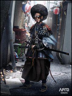 afro-samurai-art-by-mark-molnar Ronin Samurai, Afro Samurai, Samurai Art, Cyberpunk Rpg, Cyberpunk Character, Black Characters, Fantasy Characters, Skins Characters, Character Portraits