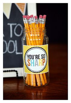 Most of you have probably seen these Back to School projects before, but if you're new around here take a minute and check out some of the ways we like to spoil our wonderful teachers… back to school printables+teacher calculator      subway art+ smart cookie teacher's treats + goodie box And …