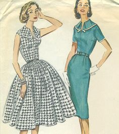 McCall's 4513  Dress with Slim or Full Skirt  by PatternPeddler,