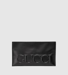 Gucci XL leather clutch