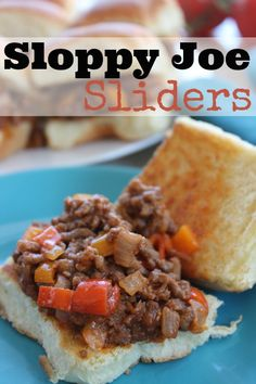 Try this Sloppy Joe Sliders Recipe just in time for your Super Bowl party! This is super easy to make and you can throw it together quickly! Easy Dinner Recipes, Appetizer Recipes, Great Recipes, Snack Recipes, Favorite Recipes, Snacks, Dinner Ideas, Easy Meals, Appetizers