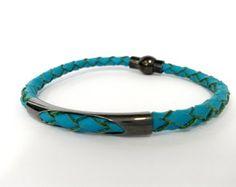 Pulseira de couro / leather bracelet #bracelets #leatherbracelet